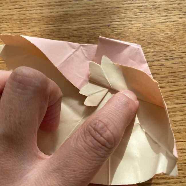 桜の折り紙 メッセージカードの折り方作り方 (36)
