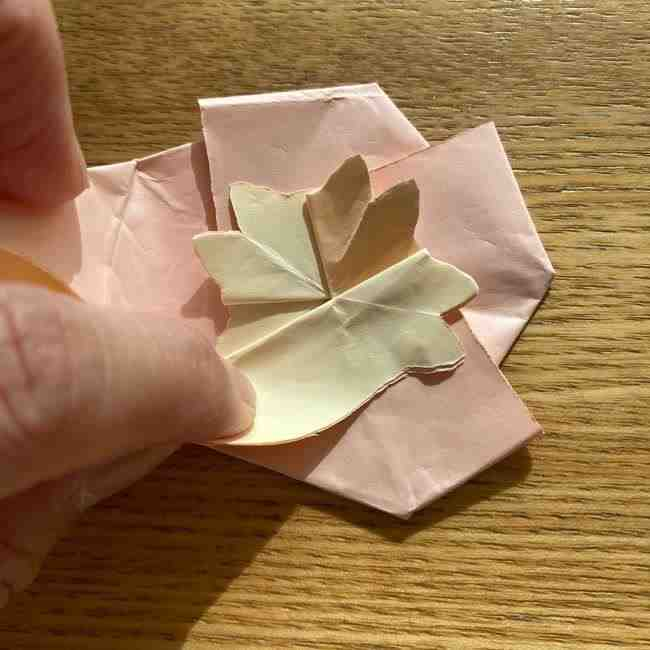 桜の折り紙 メッセージカードの折り方作り方 (41)