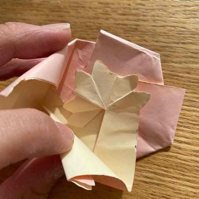 桜の折り紙 メッセージカードの折り方作り方 (42)