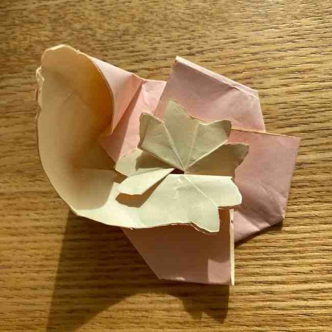 桜の折り紙 メッセージカードの折り方作り方 (43)
