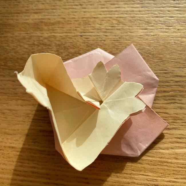 桜の折り紙 メッセージカードの折り方作り方 (44)
