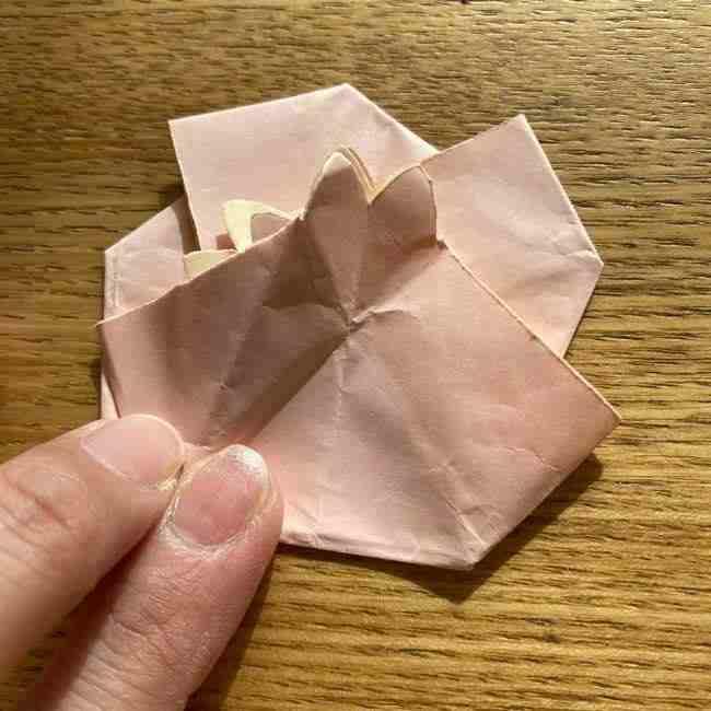桜の折り紙 メッセージカードの折り方作り方 (45)