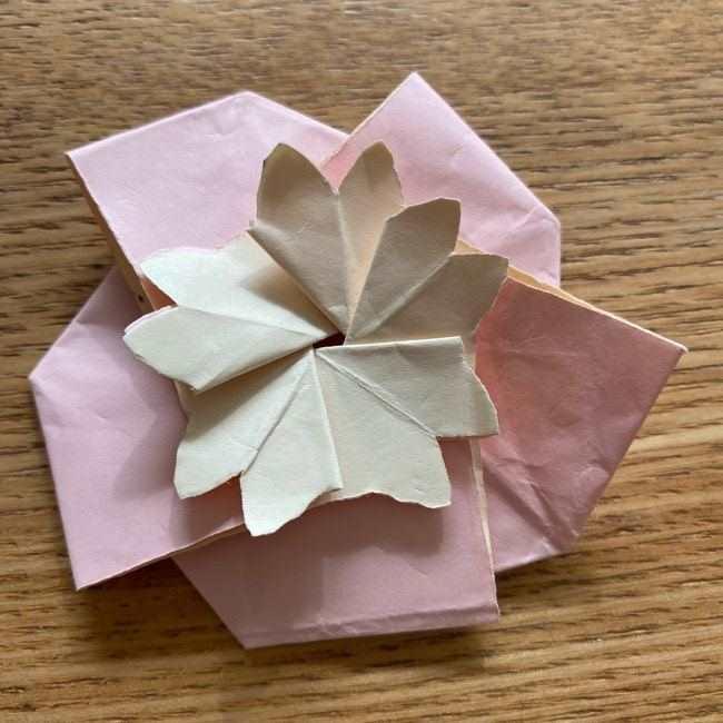 桜の折り紙 メッセージカードの折り方作り方 (46)
