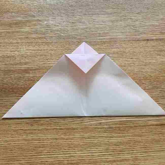 桜の折り紙 メッセージカードの折り方作り方 (7)