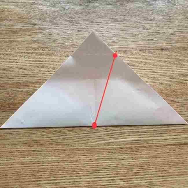 桜の折り紙 メッセージカードの折り方作り方 (9)