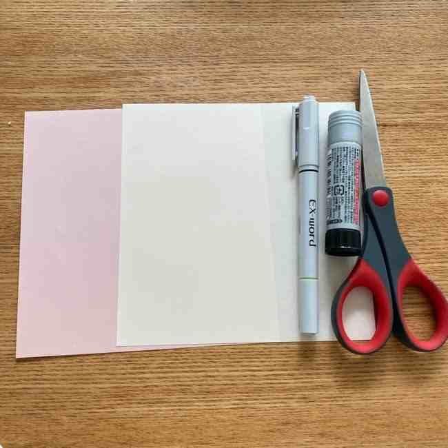 桜を折り紙でメッセージカードにしよう♪用意する物