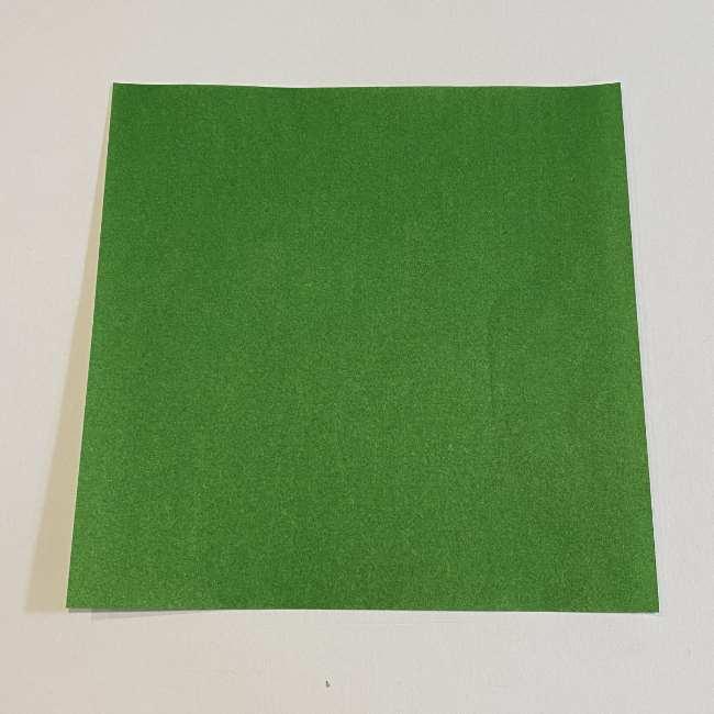 跳ねないカエルの折り紙*折り方作り方 (1)
