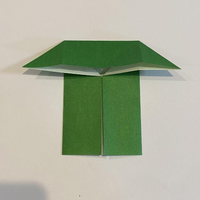 跳ねないカエルの折り紙*折り方作り方 (11)