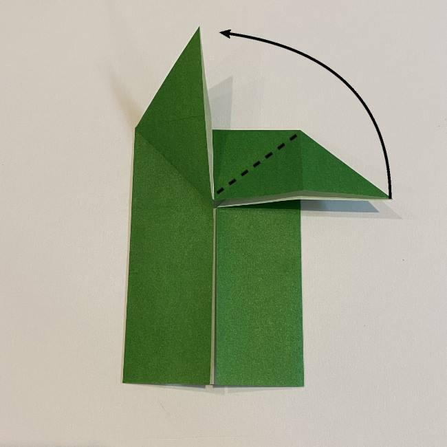 跳ねないカエルの折り紙*折り方作り方 (12)