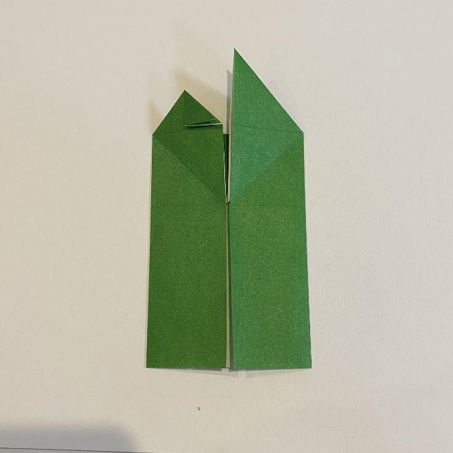跳ねないカエルの折り紙*折り方作り方 (15)