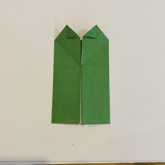 跳ねないカエルの折り紙*折り方作り方 (16)