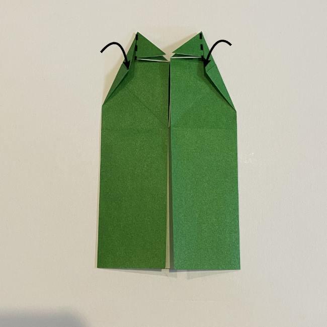 跳ねないカエルの折り紙*折り方作り方 (17)