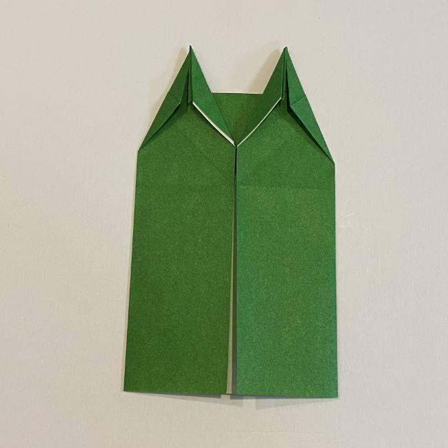 跳ねないカエルの折り紙*折り方作り方 (18)