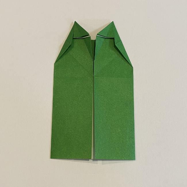 跳ねないカエルの折り紙*折り方作り方 (19)