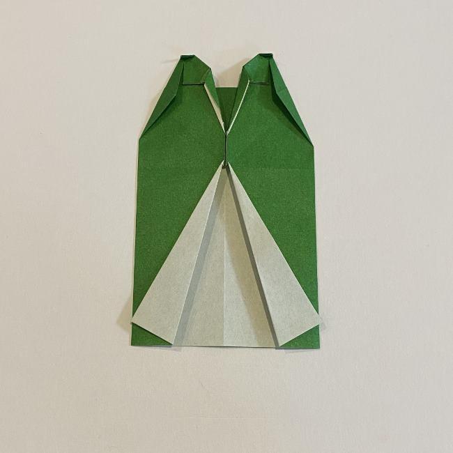 跳ねないカエルの折り紙*折り方作り方 (22)