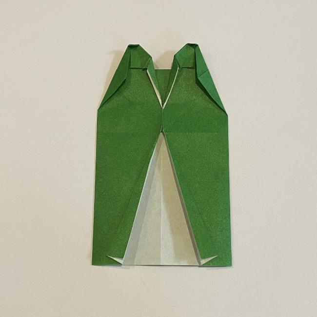 跳ねないカエルの折り紙*折り方作り方 (23)