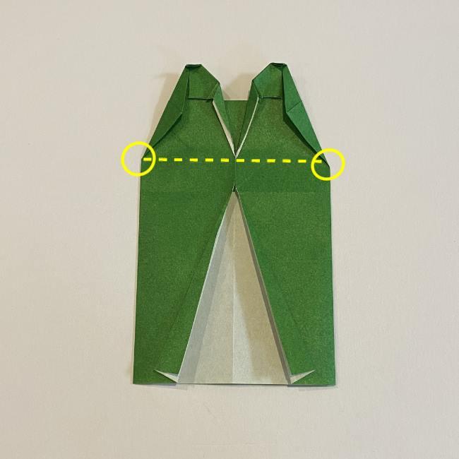 跳ねないカエルの折り紙*折り方作り方 (24)
