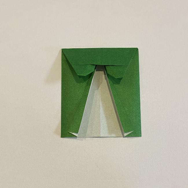 跳ねないカエルの折り紙*折り方作り方 (25)