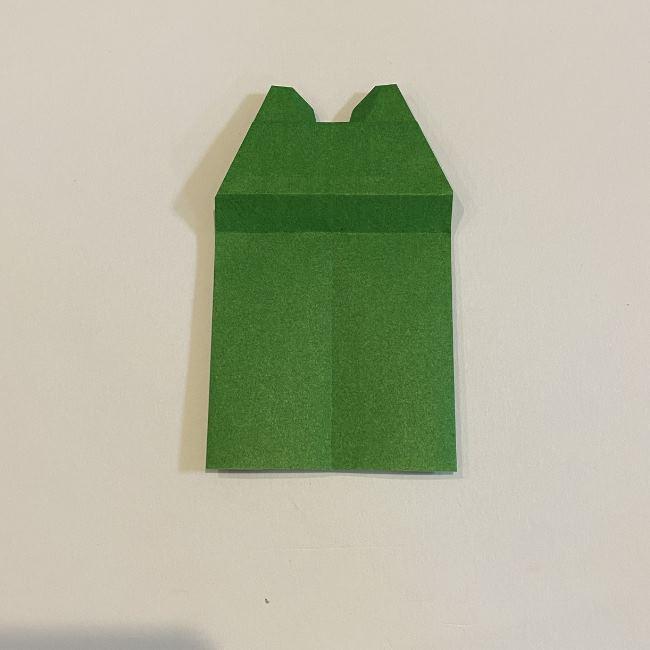 跳ねないカエルの折り紙*折り方作り方 (26)