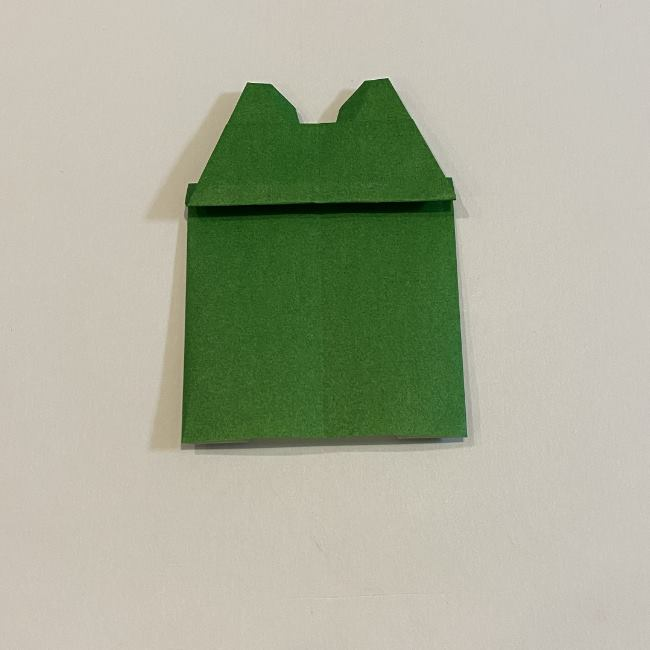 跳ねないカエルの折り紙*折り方作り方 (27)