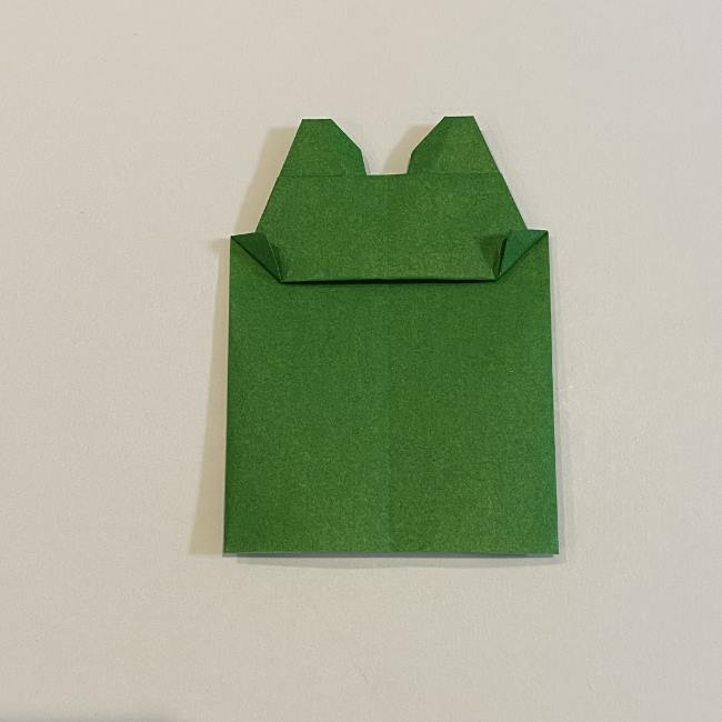 跳ねないカエルの折り紙*折り方作り方 (28)