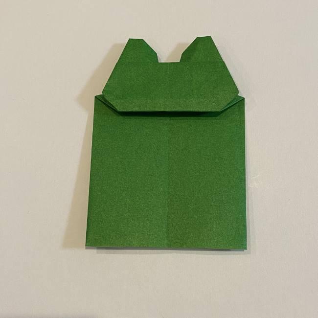 跳ねないカエルの折り紙*折り方作り方 (29)