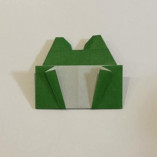 跳ねないカエルの折り紙*折り方作り方 (30)