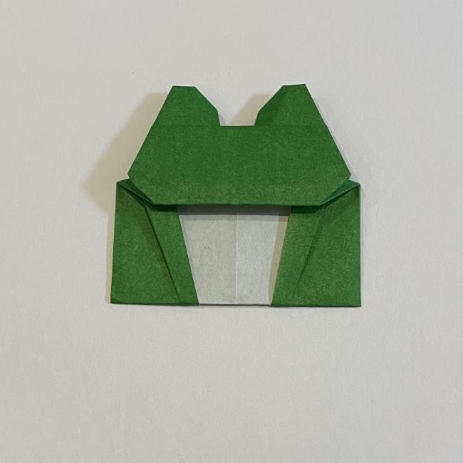 跳ねないカエルの折り紙*折り方作り方 (31)