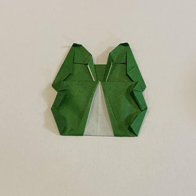 跳ねないカエルの折り紙*折り方作り方 (33)