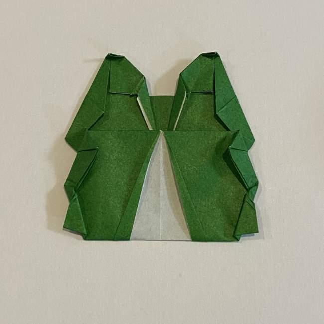跳ねないカエルの折り紙*折り方作り方 (34)