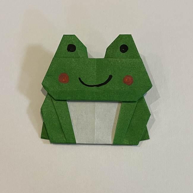 跳ねないカエルの折り紙*折り方作り方 (35)