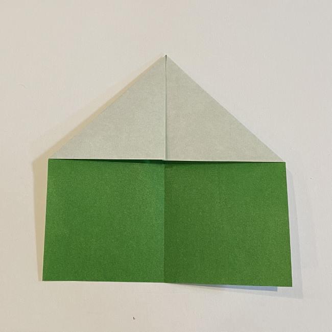 跳ねないカエルの折り紙*折り方作り方 (5)