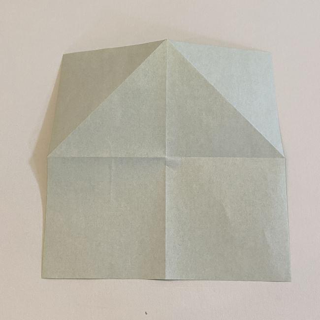 跳ねないカエルの折り紙*折り方作り方 (6)