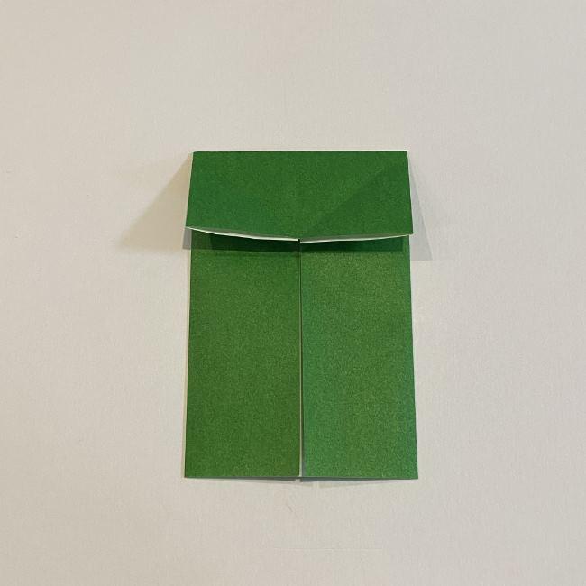 跳ねないカエルの折り紙*折り方作り方 (8)