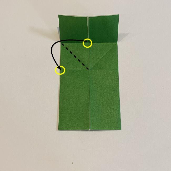 跳ねないカエルの折り紙*折り方作り方 (9)