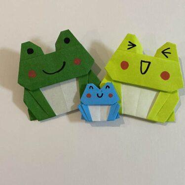跳ねないカエル 折り紙一枚で可愛い☆折り方作り方を折り図・動画つきで紹介!