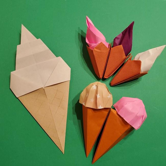 夏の折り紙アイスクリームの折り方まとめ(2)