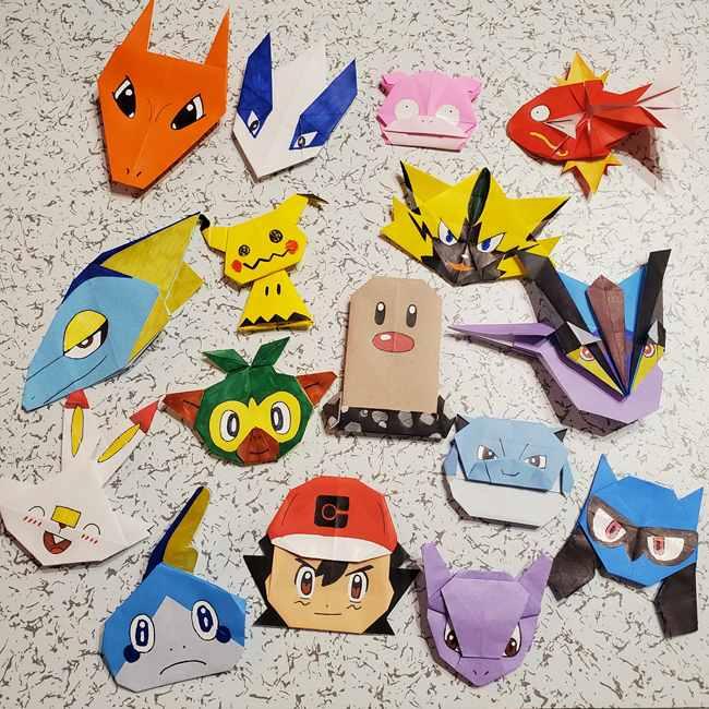 ポケモンの折り紙 ミミッキュの折り方まとめ