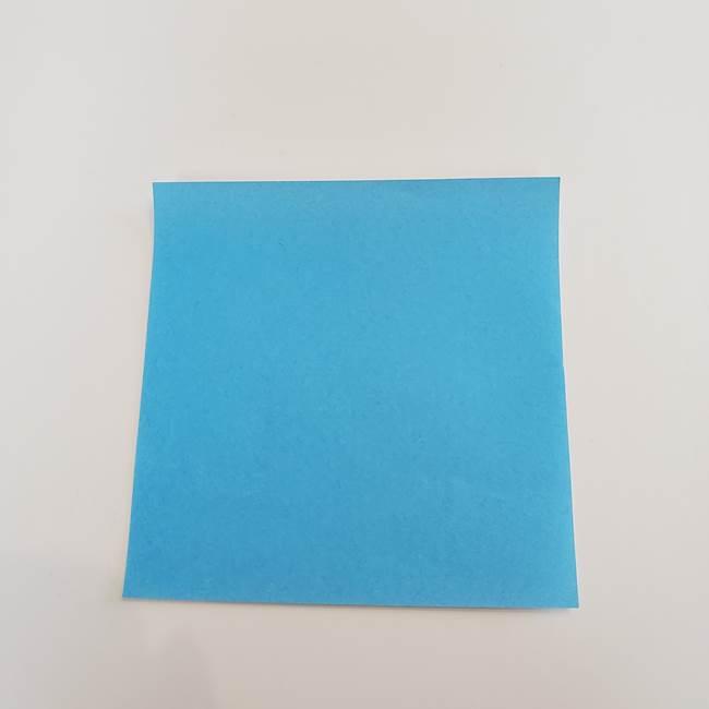 「朝顔(あさがお)のつぼみの折り紙 簡単な作り方折り方」(1)