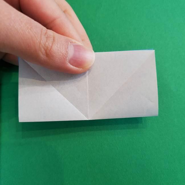 「朝顔(あさがお)のつぼみの折り紙 簡単な作り方折り方」(10)