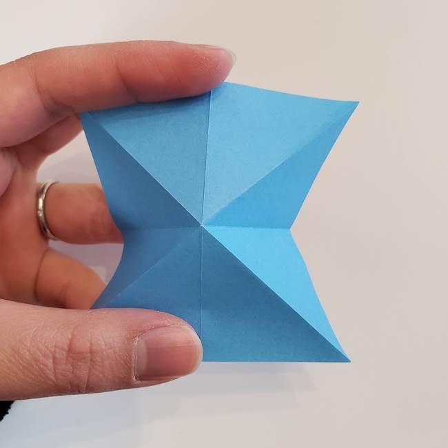 「朝顔(あさがお)のつぼみの折り紙 簡単な作り方折り方」(11)