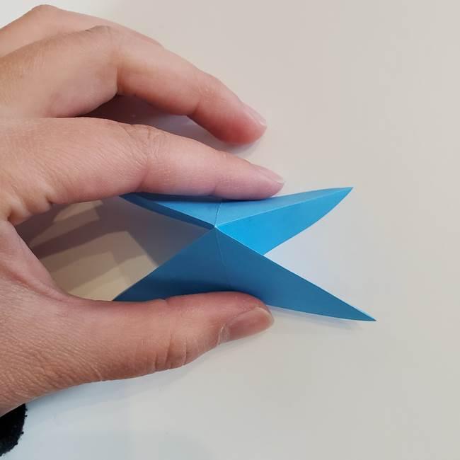 「朝顔(あさがお)のつぼみの折り紙 簡単な作り方折り方」(12)