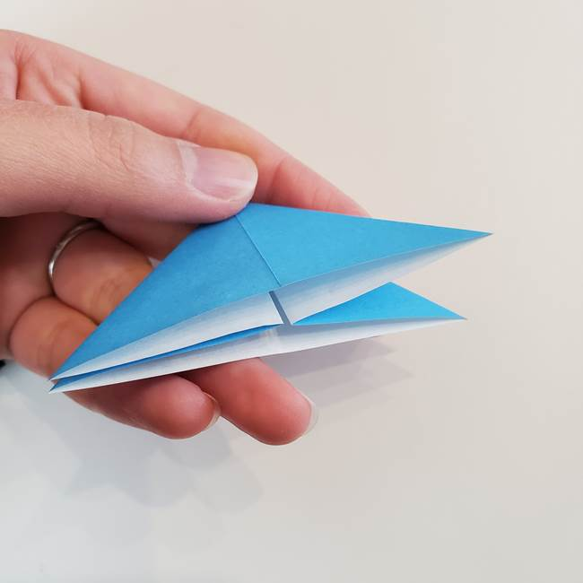 「朝顔(あさがお)のつぼみの折り紙 簡単な作り方折り方」(13)