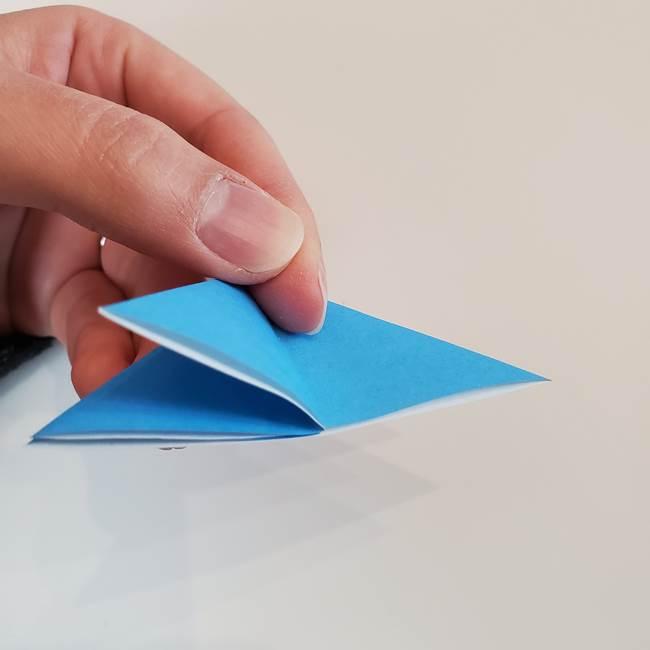 「朝顔(あさがお)のつぼみの折り紙 簡単な作り方折り方」(14)