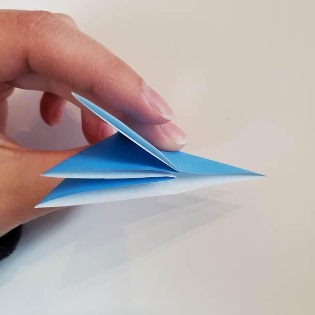 「朝顔(あさがお)のつぼみの折り紙 簡単な作り方折り方」(15)