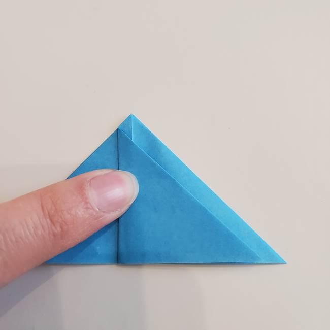 「朝顔(あさがお)のつぼみの折り紙 簡単な作り方折り方」(16)