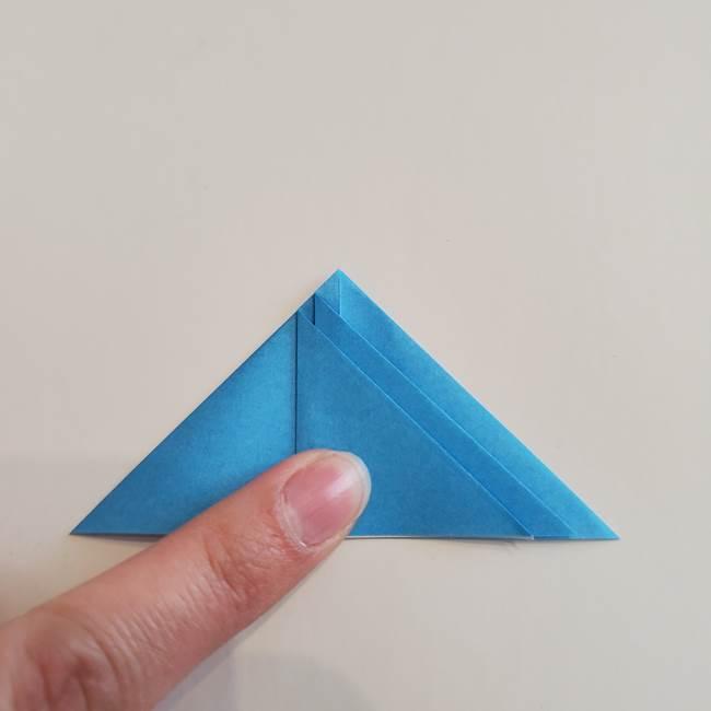 「朝顔(あさがお)のつぼみの折り紙 簡単な作り方折り方」(17)