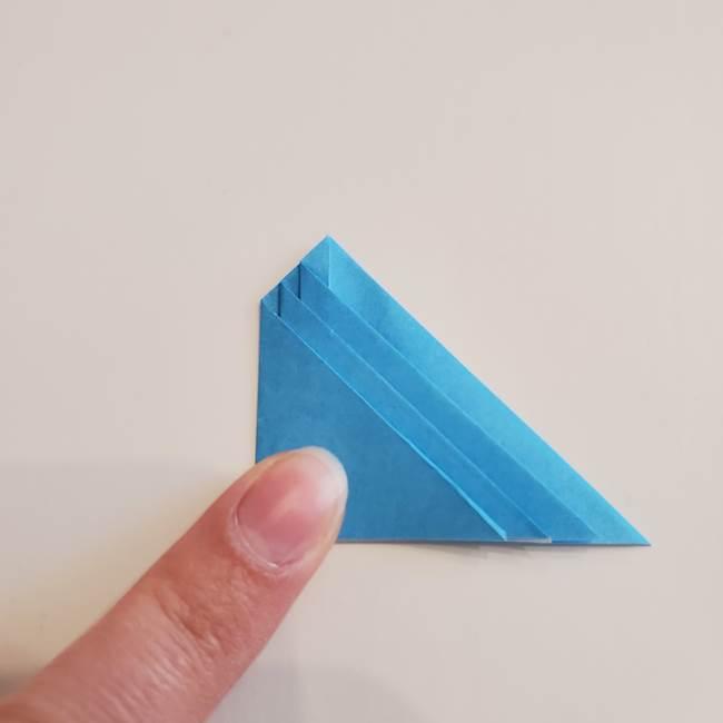 「朝顔(あさがお)のつぼみの折り紙 簡単な作り方折り方」(18)