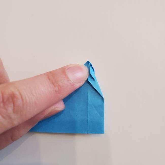 「朝顔(あさがお)のつぼみの折り紙 簡単な作り方折り方」(20)