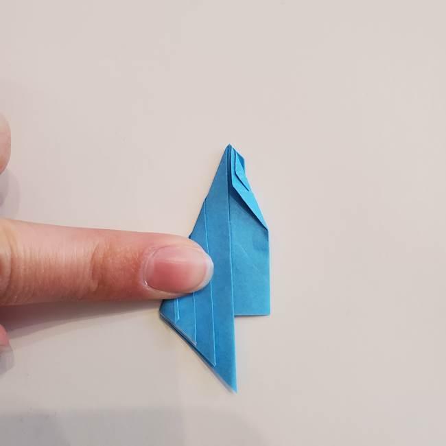「朝顔(あさがお)のつぼみの折り紙 簡単な作り方折り方」(21)